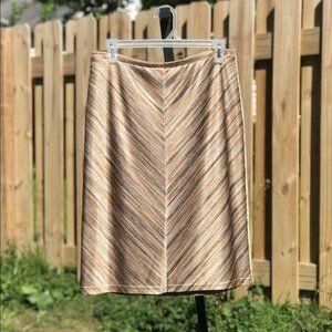 Express perfect slip on chevron pencil skirt